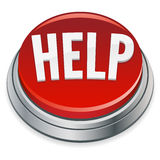 Help Button. An illustration of a big red button offering help needed royalty free illustration