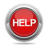 Help button. Help alarm assistance support icon Royalty Free Stock Photography