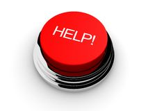Help button. 3d rendered illustration of  a red help button Stock Images