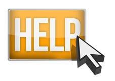 Help button and arrow cursor Stock Photo