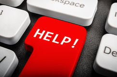 Help button. On computer keyboard, colored in red Royalty Free Stock Image
