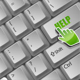 Help button on keyboard Royalty Free Stock Image