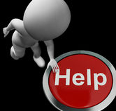 Help Button Means Aid Assistance Or Service Stock Photos