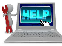 Help Button Means World Wide Web And Advice 3d Rendering Royalty Free Stock Image