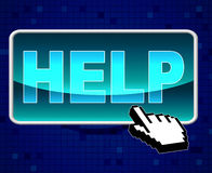 Help Button Means World Wide Web And Advice Royalty Free Stock Image