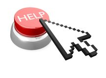 HELP button with mouse cursor Royalty Free Stock Photography