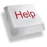 Help button with red letter. On white background Royalty Free Stock Images