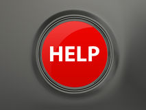 Help Button Royalty Free Stock Photo