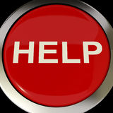Help Button Shows Aid Assistance Or Answers Stock Images