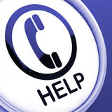 Help Button Shows Call For Advice Or Assistance Royalty Free Stock Photos