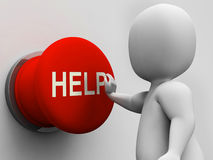 Help Button Shows Support Assistance And Aid Royalty Free Stock Photography
