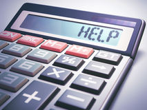 Help Calculation Business Finance Royalty Free Stock Photos