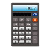Help Calculator Stock Photography