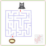 Help the car go through a maze and find saucer of milk. Royalty Free Stock Images