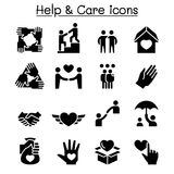 Help, care, Friendship, Generous & Charity icon set Royalty Free Stock Images