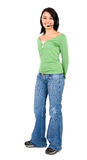 Help center girl standing Royalty Free Stock Photo