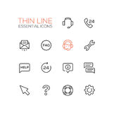 Help Center - Thin Single Line Icons Set Stock Images