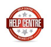 Help centre seal illustration design Royalty Free Stock Image