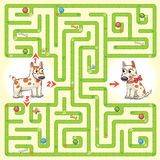 Help the character to find a way out of the maze Stock Photos