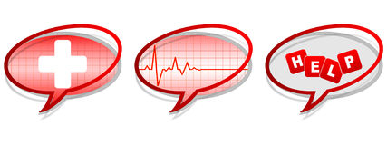 Help chat icons Royalty Free Stock Image