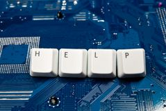 Help for circuit board Stock Photography