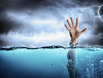 Help Concept - Drowning And Failure Stock Photos