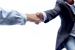 Help concept hand reaching out to help someone isolated Stock Photos