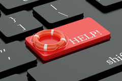 Help concept on keyboard button Royalty Free Stock Photos