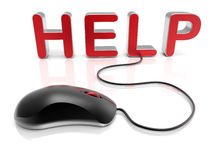 Help concept - mouse wired Royalty Free Stock Photography