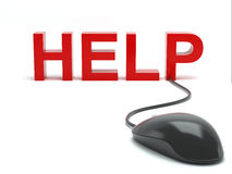 Help connected to a computer mouse Royalty Free Stock Images