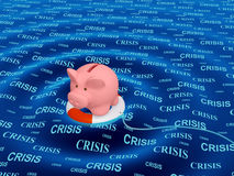 Help in a crisis situation. Conceptual image - help in a crisis situation Stock Image