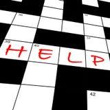 Help in crossword Stock Photos
