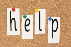 Help in cut out letters Royalty Free Stock Images