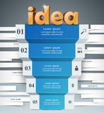 Help 3d business infographics. Idea 3d logo on the grey background Stock Photography
