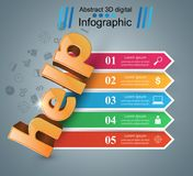 Help 3d business infographics. Help 3d logo on the grey background Royalty Free Stock Photo