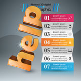 Help 3d business infographics. Help 3d logo on the grey background Royalty Free Stock Image