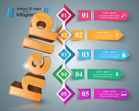 Help 3d business infographics. Help 3d logo on the grey background Royalty Free Stock Photography