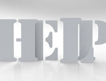 Help 3d word concept Royalty Free Stock Images