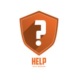 Help design. Question mark icon. Flat illustration Royalty Free Stock Photography