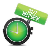 Help desk 24 - 7. Illustration design over a white background Stock Photo