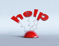 Help-desk. The letters on steel springs Royalty Free Stock Photos
