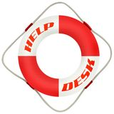 Help Desk. Business Illustration: Help Desk Symbol Life Saver Royalty Free Stock Image