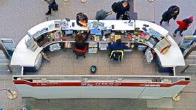 Help desk at airport express train station, hong kong Royalty Free Stock Photo
