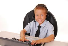 Help Desk Boy 7 Royalty Free Stock Photos