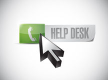 Help desk button and click illustration Stock Photography