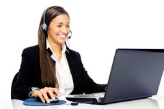 Help desk call center Royalty Free Stock Image