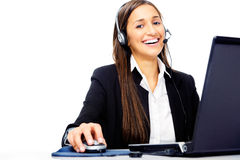 Help desk call center Stock Image