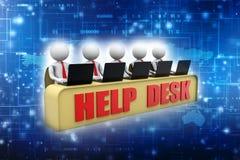 Customer Care Concept background. Help desk. 3d render stock illustration