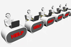 Captivating Help Desk Concept Royalty Free Illustration