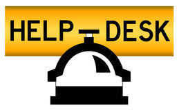 Help desk. Contacting help desk for solving problems Stock Images